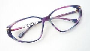 Damenfassung-Brille-Designer-Gestell-Jil-Sander-blau-lila-Butterflyform-size-M
