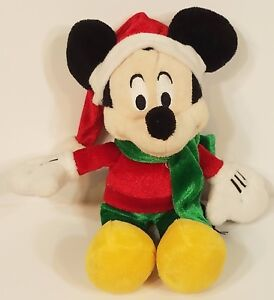 Dan-Dee-9-inch-Mickey-Mouse-Santa-hat-Christmas-holiday-Plush-Stuffed-animal-toy