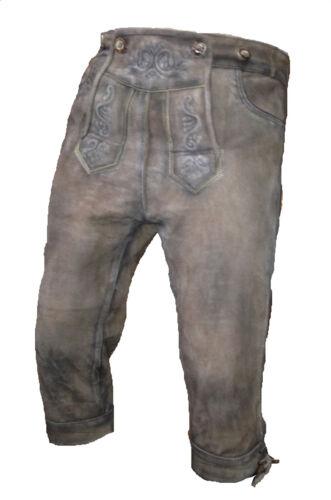 Bavarian Pants Costume Trousers Pants Long Oktoberfest in Antique Rosè Grey Size 56