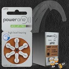 60 Pcs Power One P312 Hearing Aid Battery Zinc Air 10 Packs Wholesale Price