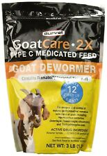 Goat Care 2x Medicated Pellets Goat Dewormer 3 Lb Free Shipping