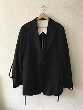 Yohji Yamamoto Men's Blazer, Black, Size 2