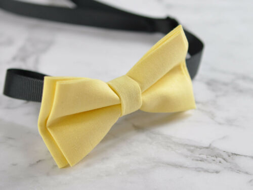 Father Son Match 100/% Cotton Handmade POPCORN Baby Yellow Bow Tie Bowtie Wedding