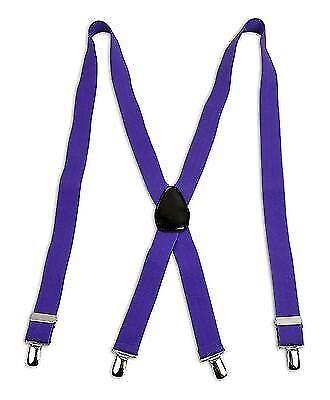 6 Pack Unisex X Back Style Clip Suspenders Extendable CSB4601-6pk
