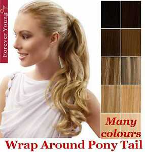 Clip-In-Ponytail-Pony-Tail-Hair-Extension-Piece-Wrap-On-Hair-Piece-Wavy-Style