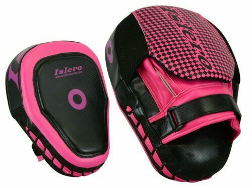 ISLERO Ladies Pink Kick Boxing Curved Focus Pads MMA Women Martial Art Training