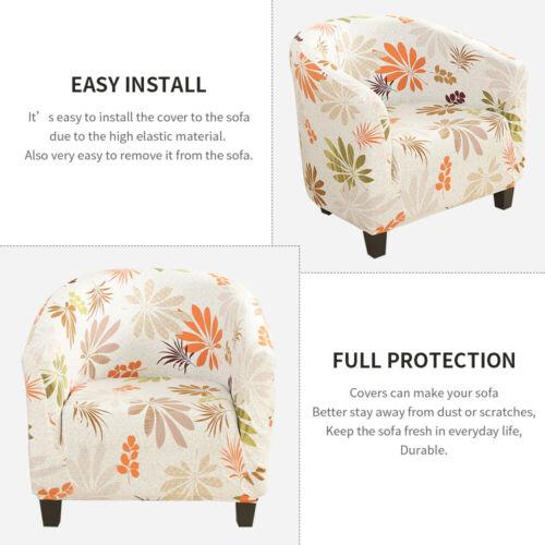 Elastic Plush Stretch Tub Chair Cover Armchair Soft Sofa Chair Covers Slipcovers