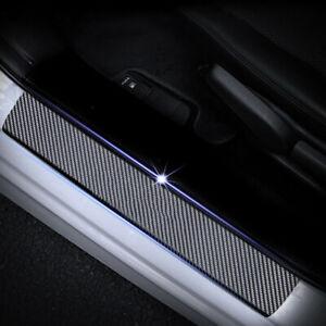 4x-For-Ford-Fiesta-3D-Carbon-Fiber-Car-Door-Sill-Scuff-Plate-Protector-Sticker