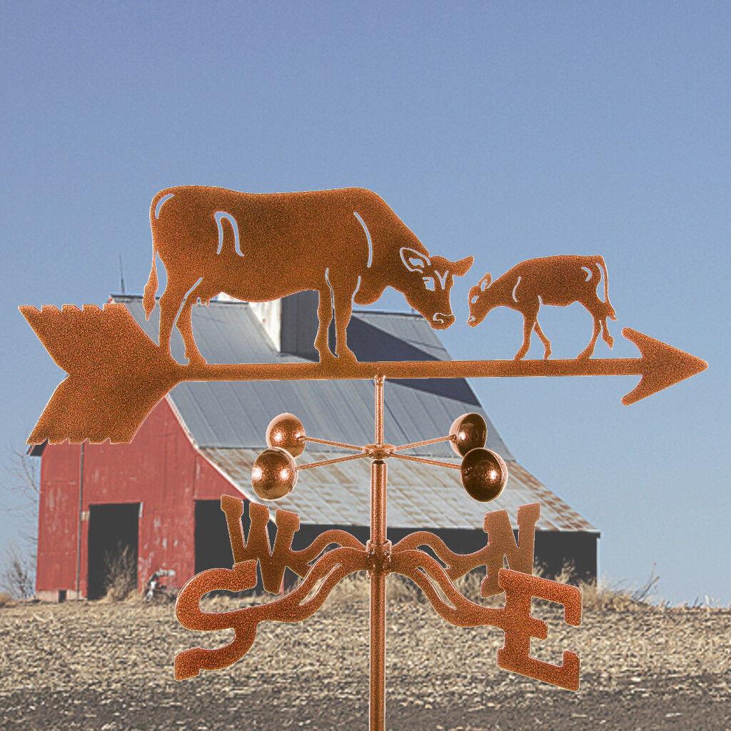Cow w/ Calf Weathervane - Dairy Farm - Weather Vane Complete w/ Choice of Mount