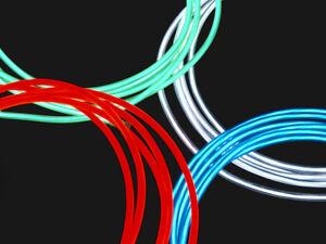 LETRONIX 150cm 1,5m Neon Kabel Grün El Wire Leuchtdraht Lichtschnur ...