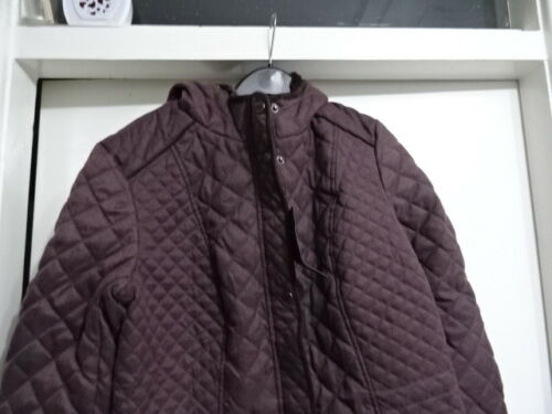 BEAUTIFUL LADIES WEATHERPROOF PLUM ROSE ZIP UP HOODIE JACKET