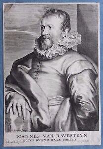 Corn Van Dijck.Paulus Pontius After Anthony Van Dyck Ioannes Van Ravesteyn