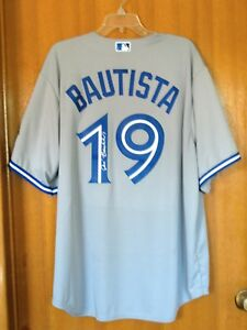 buy popular 5d8c4 d4687 Details about JOSE BAUTISTA SIGNED TORONTO BLUE JAYS 40th ANNIVERSARY  JERSEY New York Mets XXL
