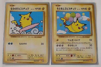 Japanese Pokemon Flying Pikachu 292//XY-P Surfing Pikachu 264//XY-P Set Promo