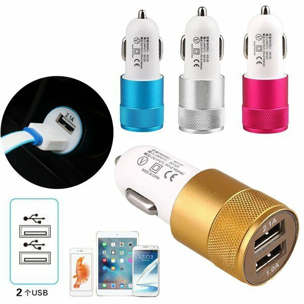 2.1A Twin USB In Car Charger Cigarette Lighter Adapter For iPhones,Samsung*