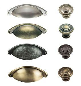 Matching Traditional Cabinet Cupboard Kitchen Wardrobe Door Cup Handles /& Knobs