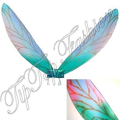 Selbstbewusst, Befangen, Gehemmt, Unsicher, Verlegen Kinder & Erwachsene Pixie Wings Fee Prinzessin Engelsblau Schwanz Tinkerbell