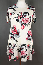 NEW WOMEN  LONG TUNIC  size  16/18  TOP  SHORT SLEEVE LADIES  BLOUSE   1185