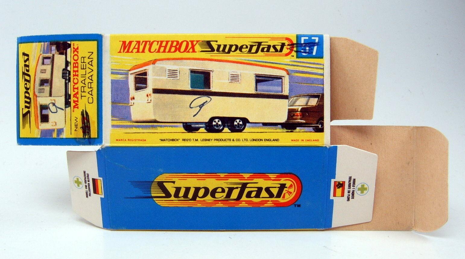 MATCHBOX SUPERFAST 57b Eccles Caravane Caravane vide originaux  H  BOX