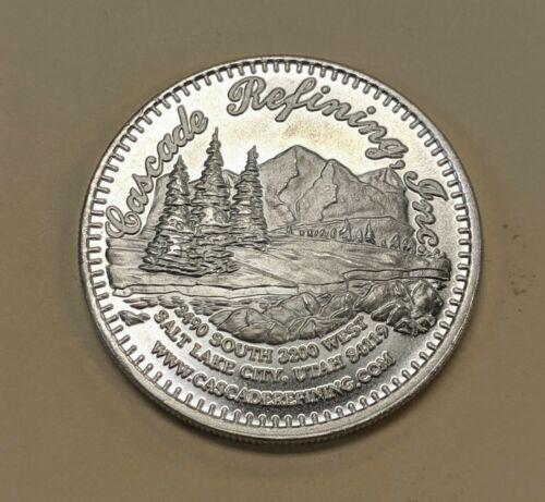Cascade Refining Fine Silver 1 oz Round Salt Lake City Utah Bright White