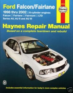 haynes repair workshop manual ford au falcon fairlane ebay rh ebay com au ford falcon au workshop manual download ford falcon owners manual pdf