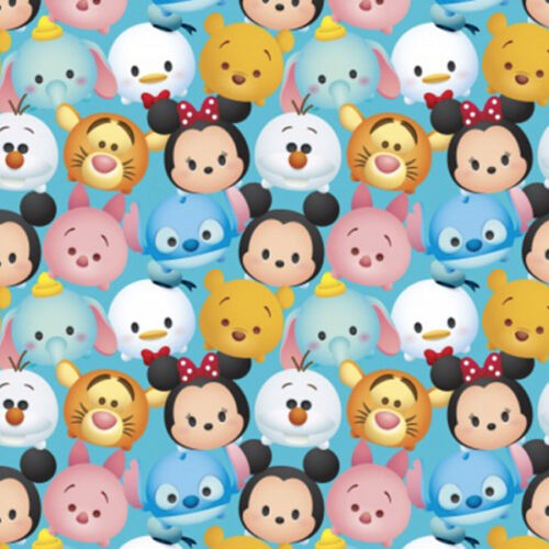 Disney Tsum Mickey /& Friends Packed 100/% cotton fabric by the yard