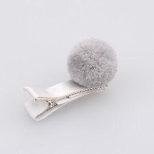 Girls-Kids-Hair-Pin-Baby-Hair-Clip-Cute-Color-Ball-Hair-Accessories-Gray