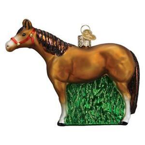 Old World Christmas QUARTER HORSE (12571)N Glass Ornament w/OWC Box