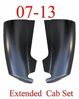07 13 Extended Cab Corner Set, Chevy Silverado Truck, 1.2mm Thick, Left & Right