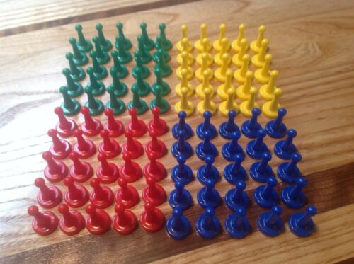 25 Green /& 25 Blue 25 Red Sorry Type Board Game Tokens Lot of 100 ~ 25 Yellow
