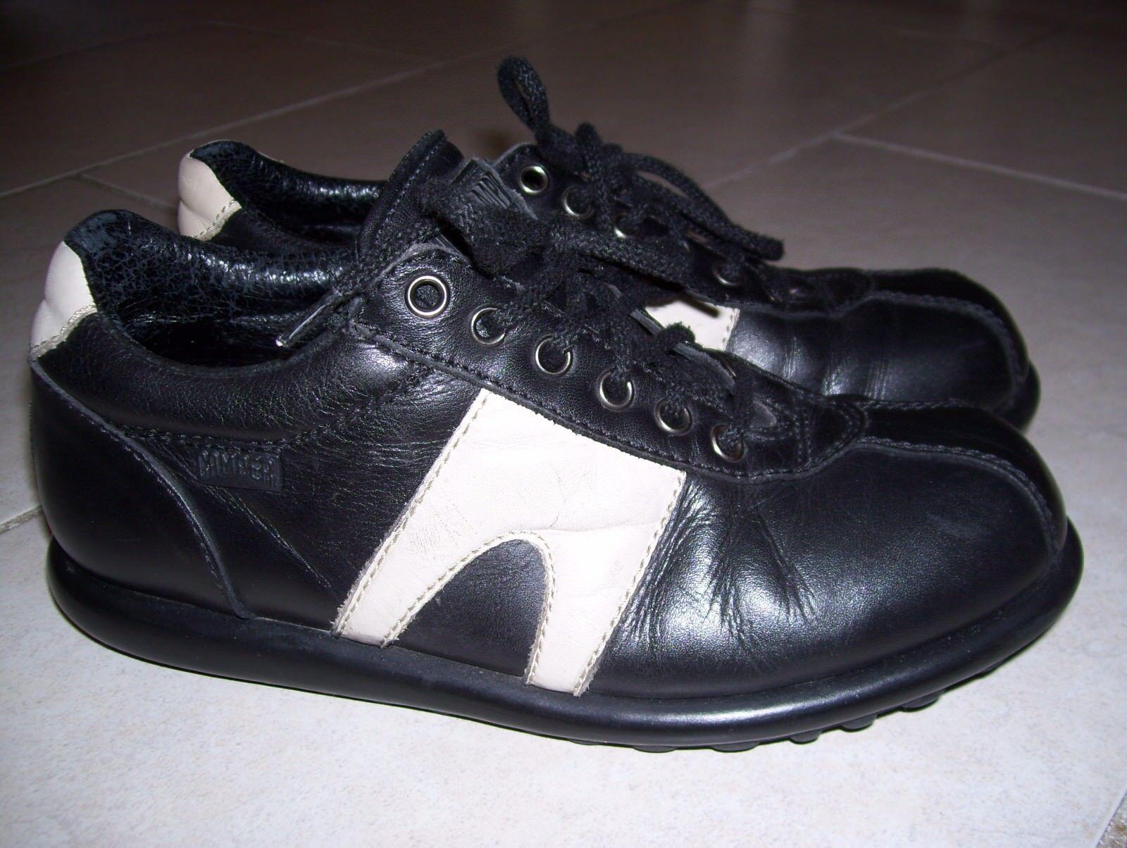 Damen Schuhe Halbschuhe Sneakers Gr.38 von Camper echtes Leder schwarz