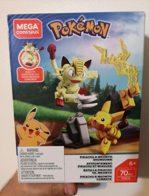 BNIB Mega Construx Pokemon Pikachu & Meowth Showdown Building Set (and unopened)