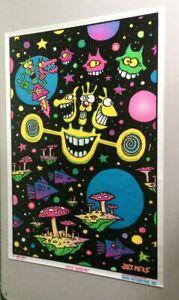 Felt Black Light Poster Joey Mars Space Out Grateful Dead Vintage 1997