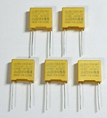 Free P/&P Safety Capacitors 5 Pack MKP 0.1uf 104K 100nf 275V 10mm Pitch