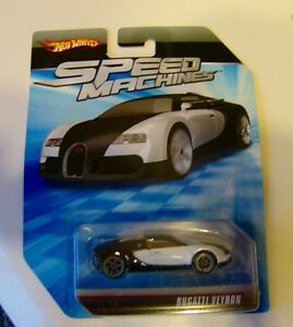 2009 hot wheels speed machines bugatti veyron black white no perfect card lot 1 ebay. Black Bedroom Furniture Sets. Home Design Ideas
