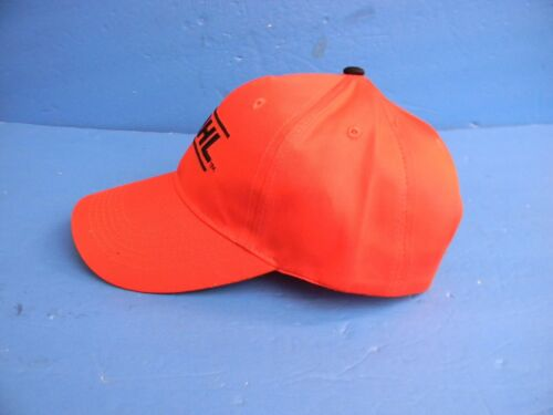 STIHL CHAINSAW HAT ORANGE WITH BLACK WRITING NEW OEM STIHL OUTFITTERS APPAREL