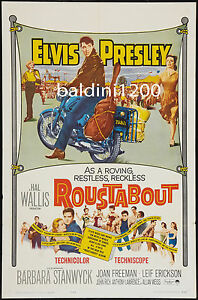ELVIS-PRESLEY-ROUSTABOUT-HIGH-QUALITY-VINTAGE-MOVIE-MUSIC-POSTER