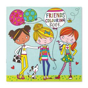 Amigos-Libro-Para-Colorear-Ninos-Por-Rachel-Ellen-ninas-regalo-diversion-actual