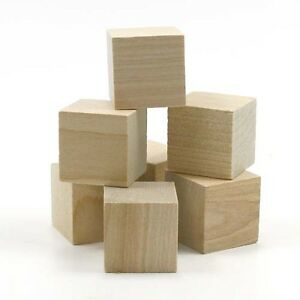 square block 1 2 x 1 2 inch unfinished wood ww sq0500 ebay. Black Bedroom Furniture Sets. Home Design Ideas