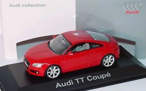 Très rare Audi Tt 8j 3.2 V6 Quattro Brilliant Red 1:43 Schuco (modèle du concessionnaire)