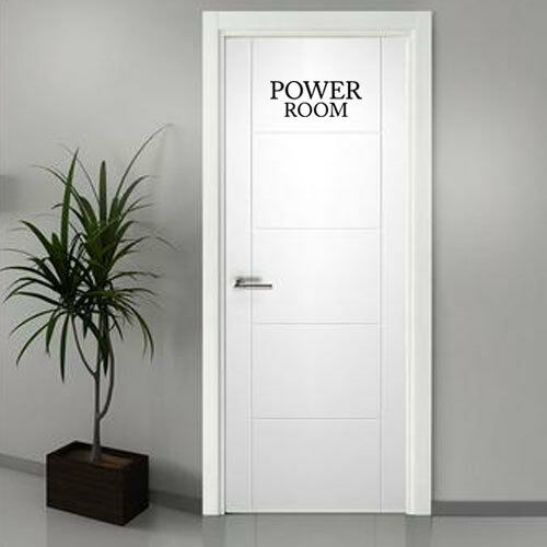Power Room Vinyl Door Decal for Home wall decor sign door window Words sticker