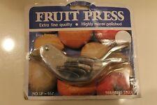 NEW  STAINLESS STEEL FRUIT/ GARLIC PRESS-UNIQUE KITCHEN GADGET