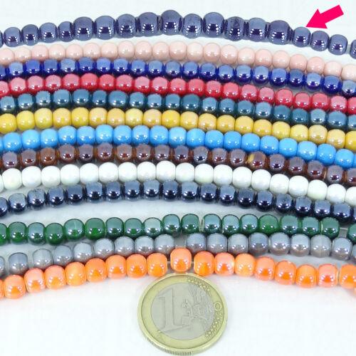 50 Redondos 6mm  T205X  Ceramica Beads Perles Perline Round Keramik Ceramics