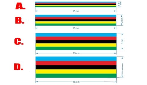 2017 UCI WORLD TOUR Champion Rainbow Frame Stickers Kit For Road Bike Decals