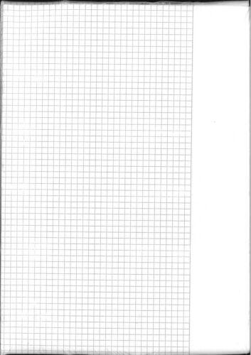 Klausurbögen 10er Pack kariert mit Rand 80g holzfreies Papier A3 gefalzt auf A4