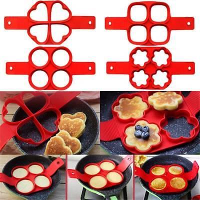 Silicone Non Stick Pancake Maker Flippin Fantastic Mould Egg Omelette UK Seller