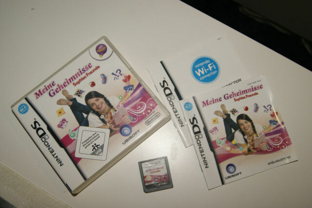 """Nintendo DS Spiel """"Sophies Freunde"""" Meine Geheimnisse mit Hülle + Anleitg*s.gt.*"""