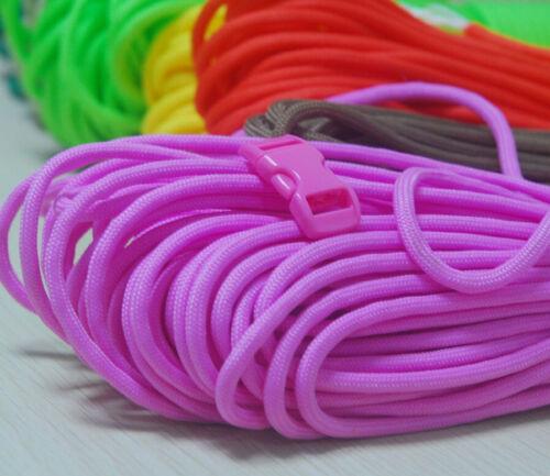 60ft Patterns Paracord Bracelet Kit w 10 Multicolored Paracord Buckles