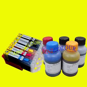 5-cartouche-compatible-rechargeable-500ml-encre-pour-Canon-PGI-580-581-TR7550