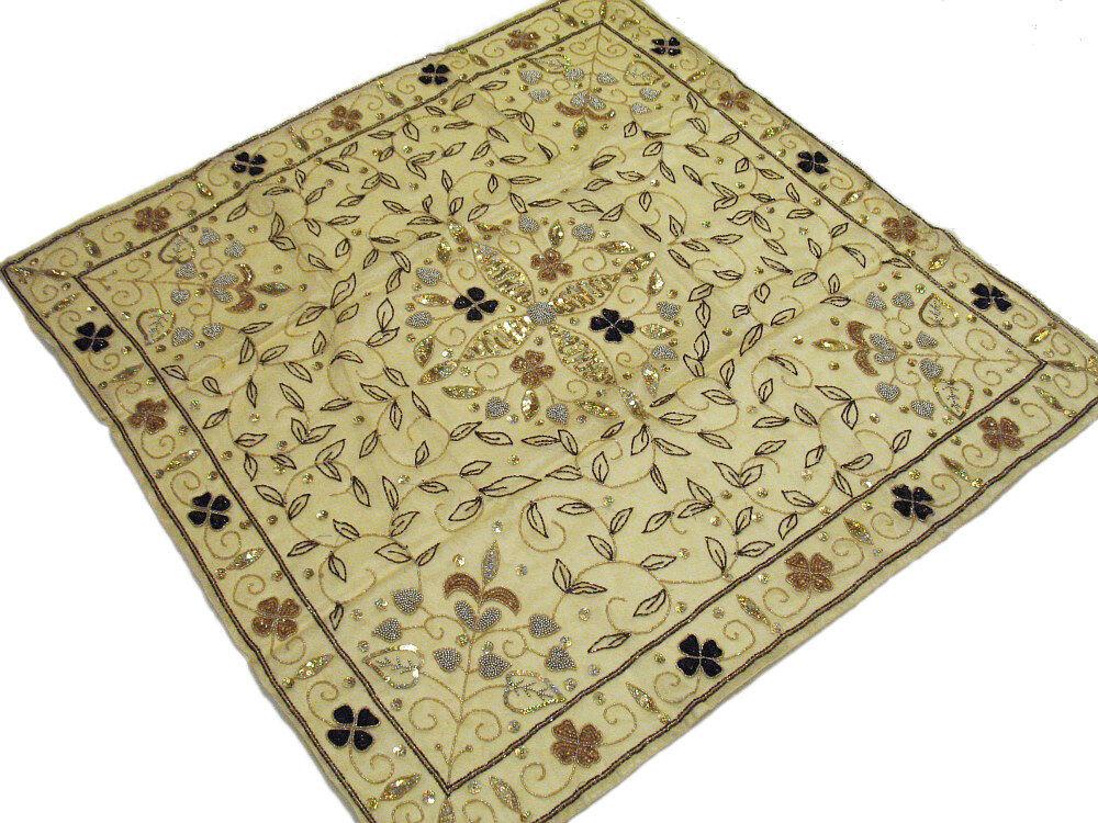 Organza deco table OVERLAY décor or pale Square élégant mariage Linens